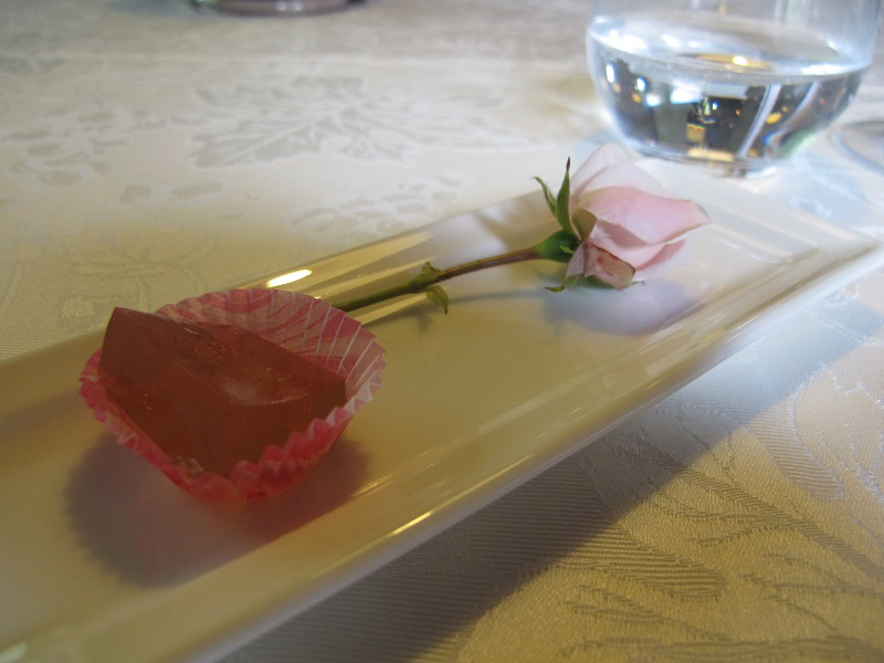 gelatina di rose, Casin del Gamba, Chef Antonio Dal Lago, Altissimo, Vicenza