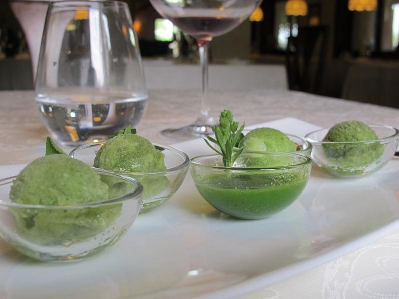 sorbetti e gelatine, Casin del Gamba, Chef Antonio Dal Lago, Altissimo, Vicenza