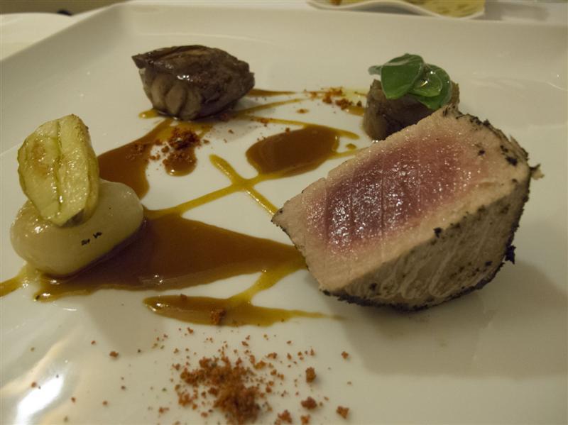 filetto e ventresca di tonno, Duomo, Chef Ciccio Sultano, Ragusa Ibla