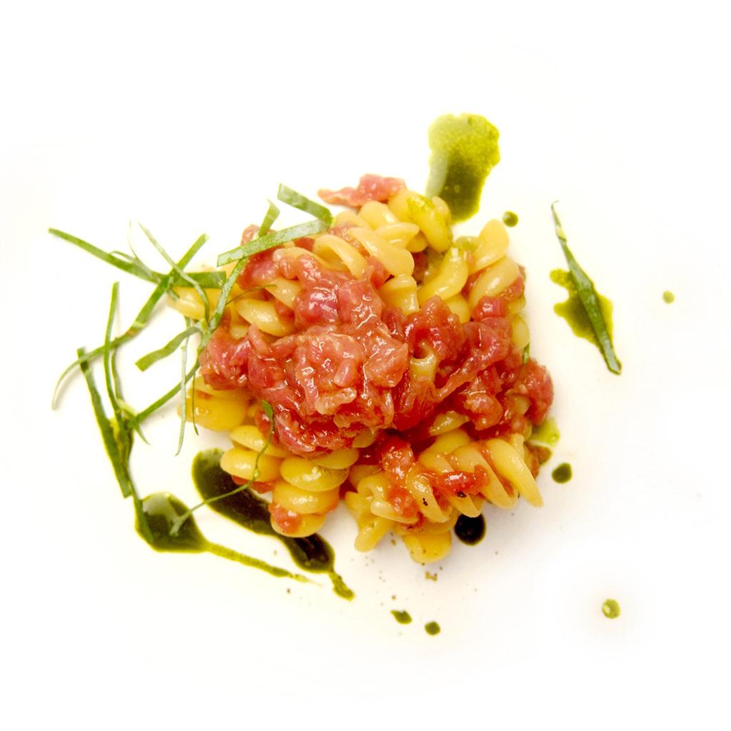 Fusilli con pecora e eucalipto, Chef Piergiorgio Parini,