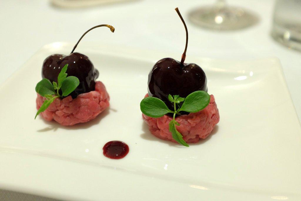 ciliegia ripiena di foie gras, Ilario Vinciguerra, Gallarate