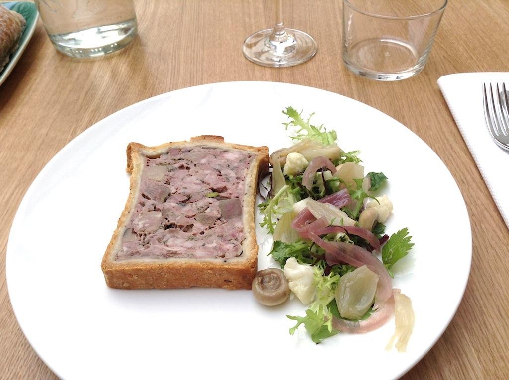 patè en croute, Comptoir des Galeries, Chef Julien Burlat, Bruxelles