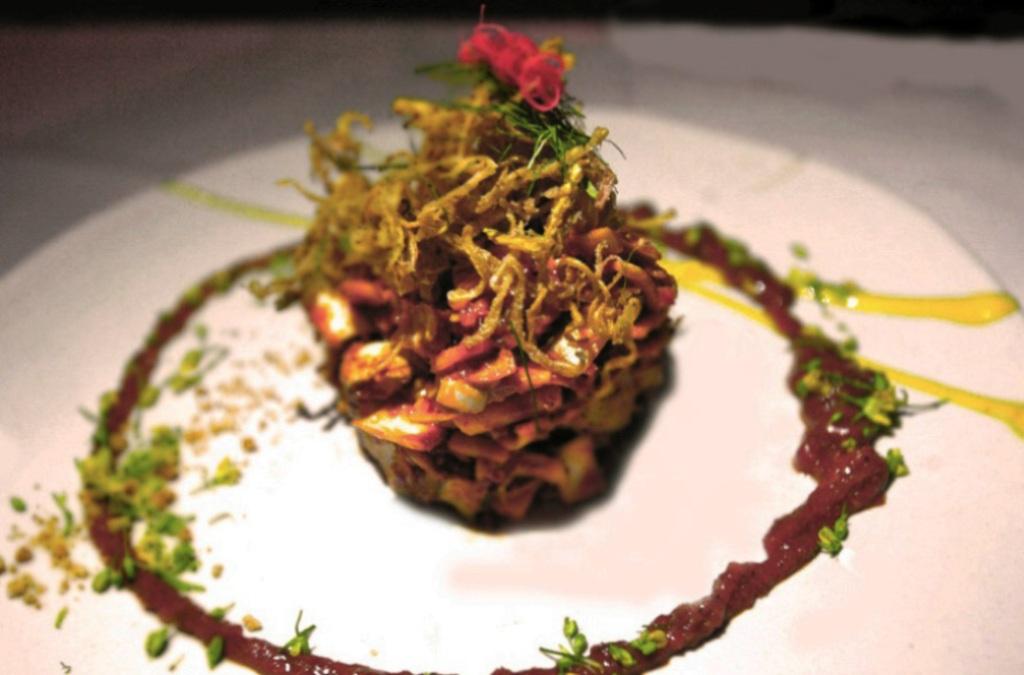 Yum Haua Plee, Issaya Siamese Club, Chef Ian Kittichai, Bangkok