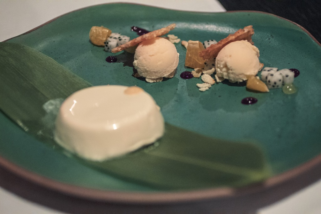 panna cotta, Issaya Siamese Club, Chef Ian Kittichai, Bangkok