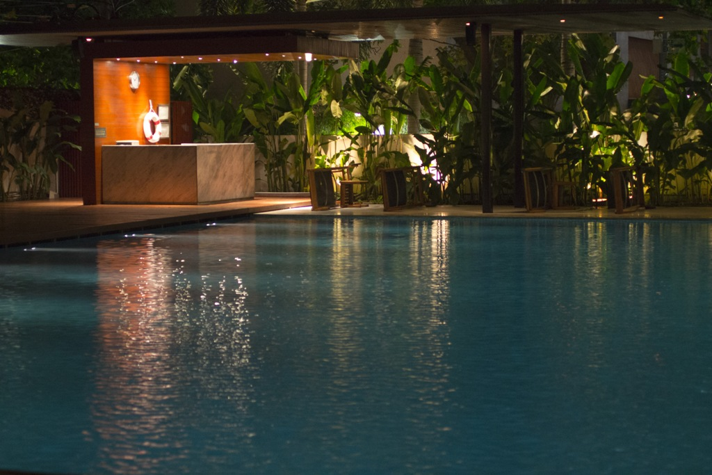 Piscina dell'hotel, Metropolitan Hotel, Chef David Thompson, Bangkok, Thailand