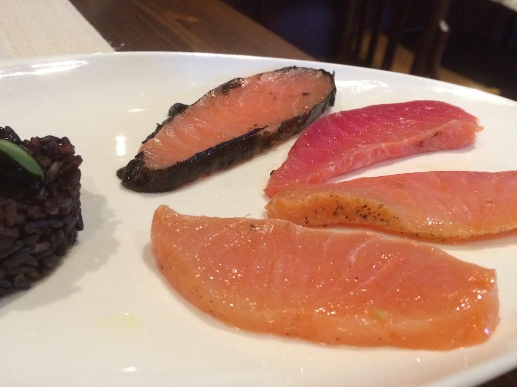 salmone marinato, Rovello 18, Milano