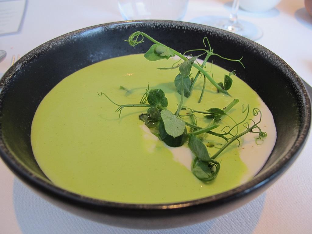 Zuppa di piselli e menta, Trinity, Chef Adam Byatt, Londra