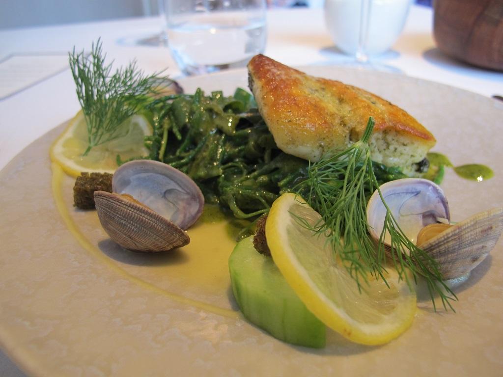 Platessa arrosto e verdure al vapore, Trinity, Chef Adam Byatt, Londra
