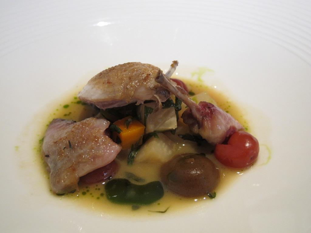 Quaglia arrosto, Trinity, Chef Adam Byatt, Londra