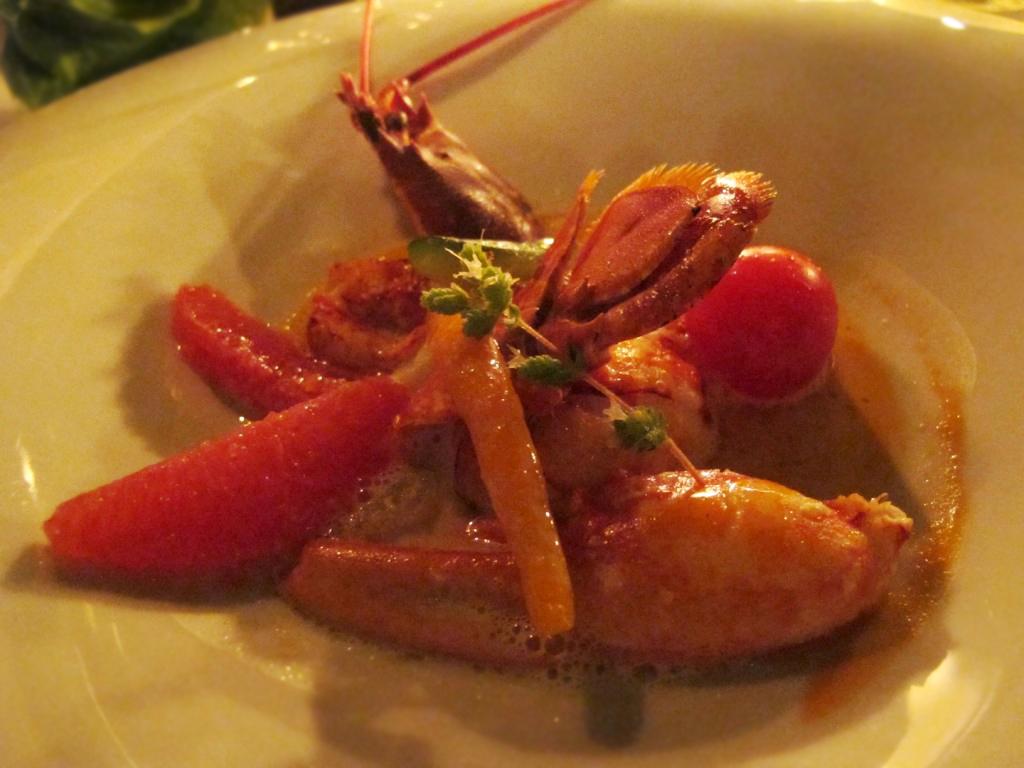 astice agli agrumi, Bastide de Capelongue, Chef Loubet, Bonnieux, Provenza