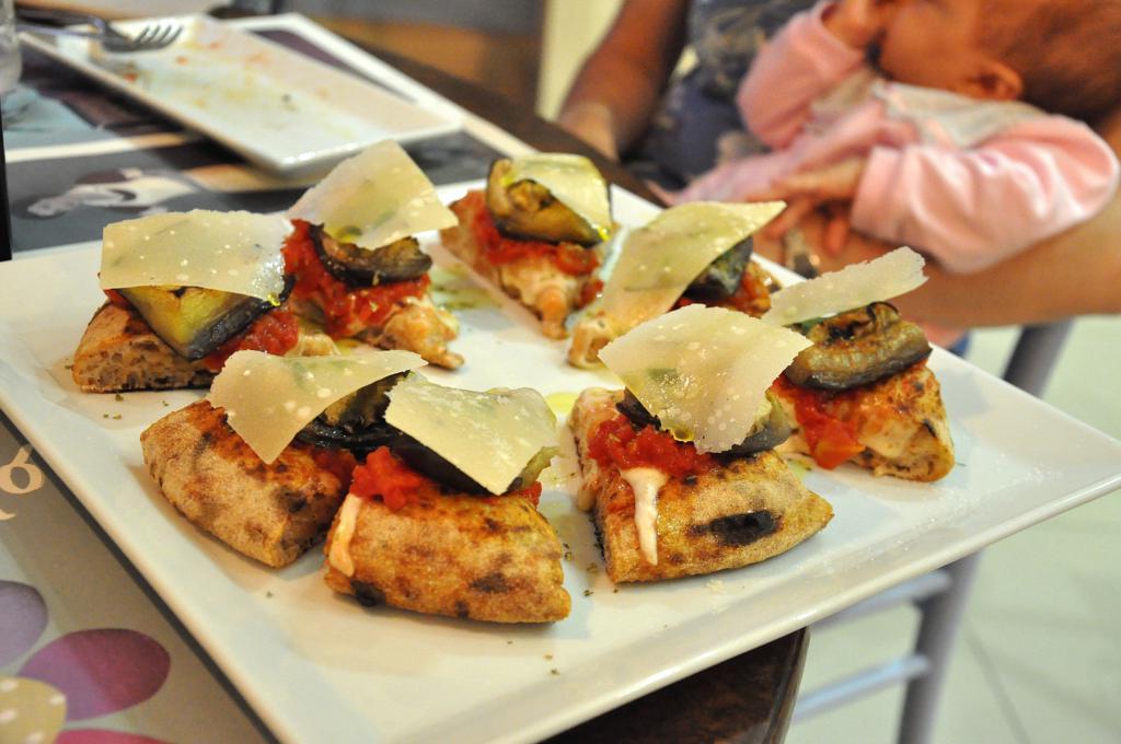 Parmigiana, Pizza, Pizzeria 'O Fiore Mio, Faenza, Ravenna