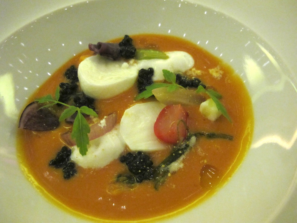 fluida di pomdooro,  Imàgo, Chef Francesco Apreda, Roma, Hotel Hassler