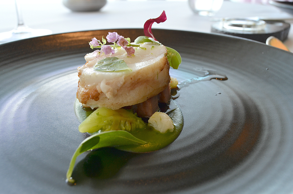 Monkfish con pancetta di maiale, Jaan, Chef Julien Royer, Singapore