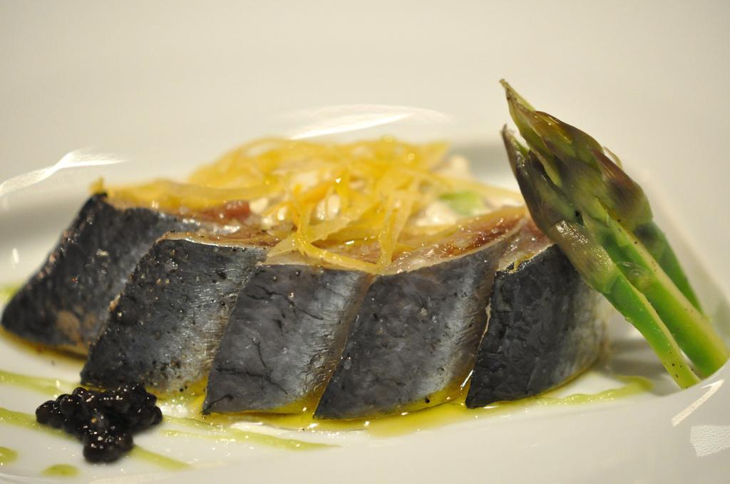 Sardine con asparago verde, Joël Robuchon, Chef Christophe Cussac, Montecarlo, Principato di Monaco