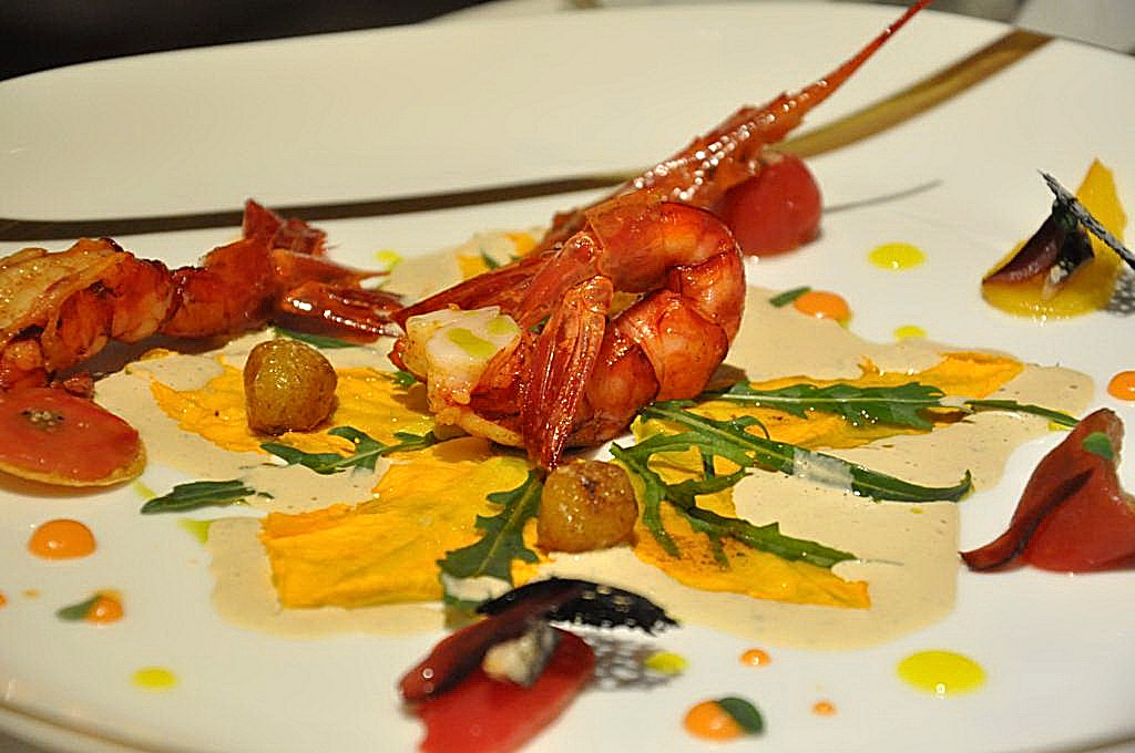 gamberoni, La Vague d'Or, Chef Arnaud Donckele, Saint-Tropez