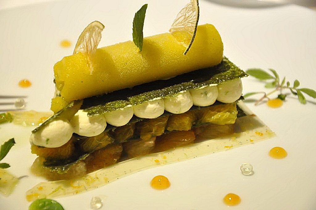 millefoglie, La Vague d'Or, Chef Arnaud Donckele, Saint-Tropez