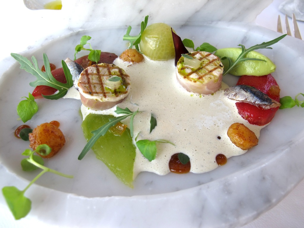 leccia grigliata, La Vague d'Or, Chef Arnaud Donckele, Saint-Tropez