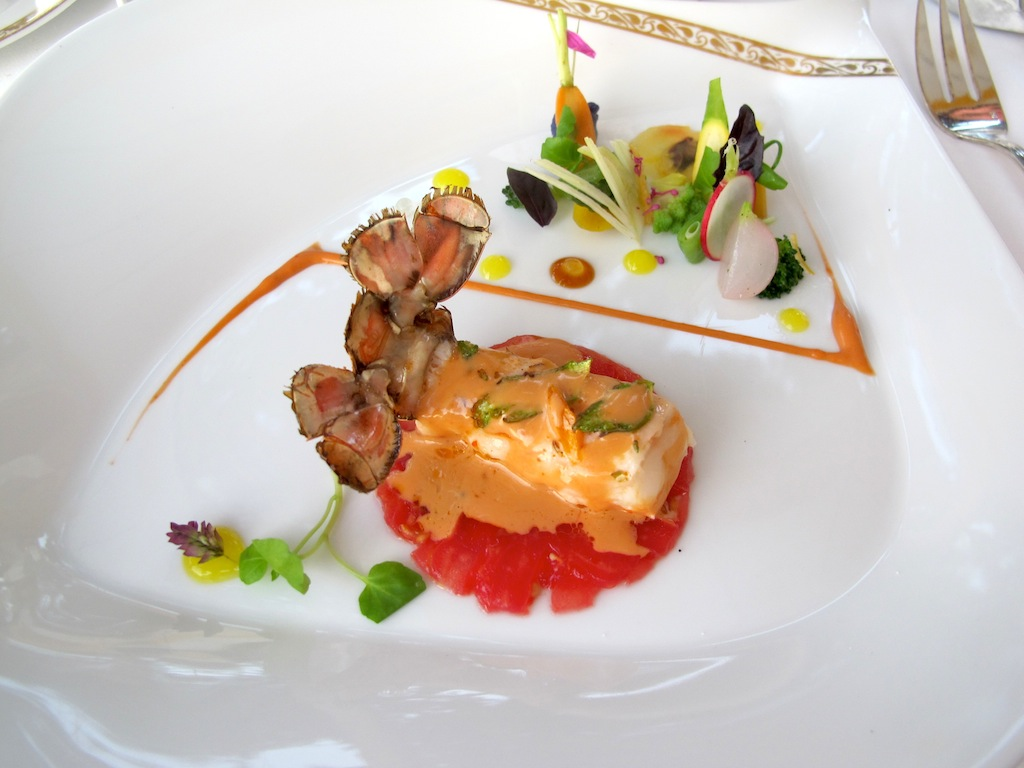 scampo arrosto, La Vague d'Or, Chef Arnaud Donckele, Saint-Tropez