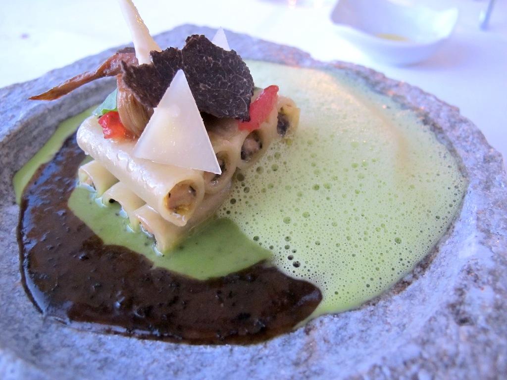 ziti ripieni di tartufo, La Vague d'Or, Chef Arnaud Donckele, Saint-Tropez