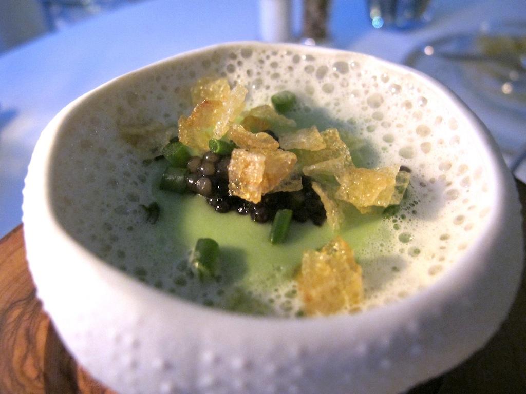 Guancia con caviale, La Vague d'Or, Chef Arnaud Donckele, Saint-Tropez
