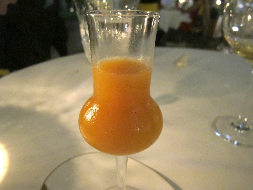 albicocca e mela verde, La Vague d'Or, Chef Arnaud Donckele, Saint-Tropez