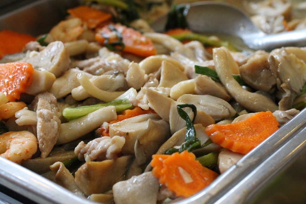funghi e verdure, Thai Street Food, Bangkok, Thailandia
