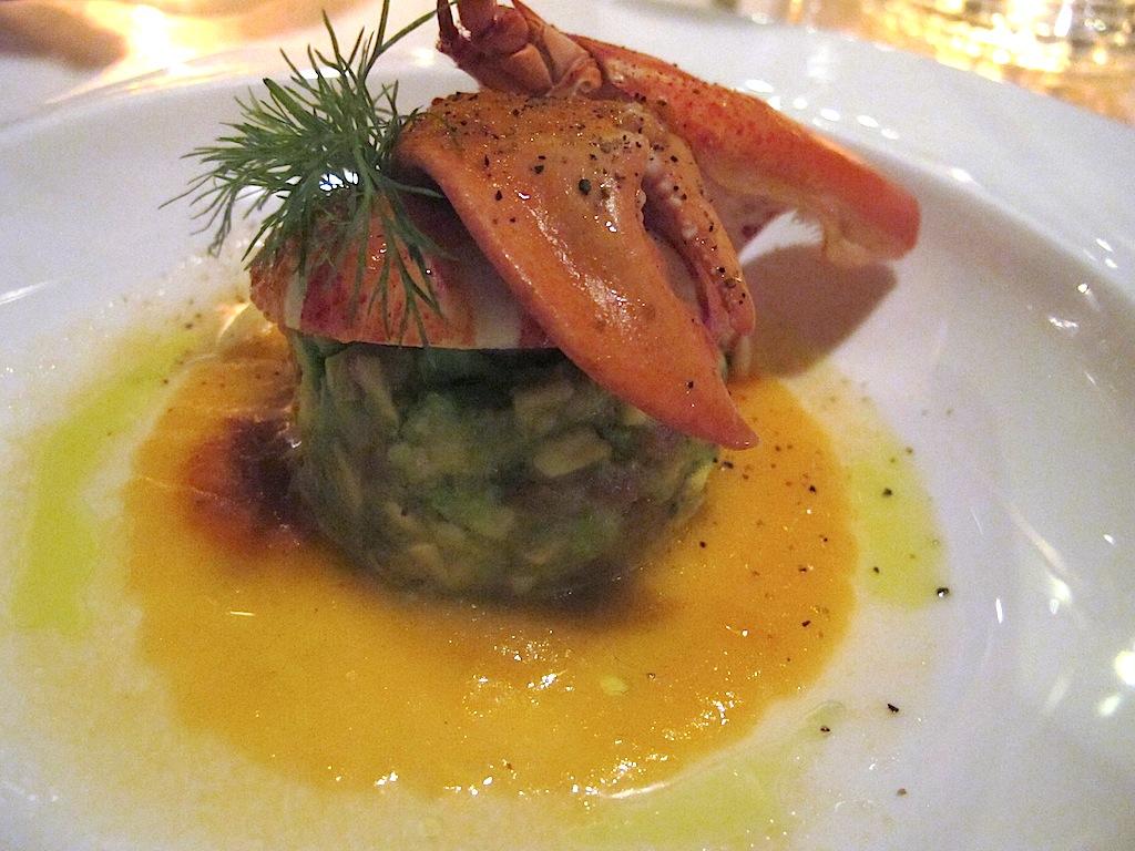 Astice cotto a bassa temperatura, Belvedere, Chef Antonello Arrus, Santa Margherita di Pula