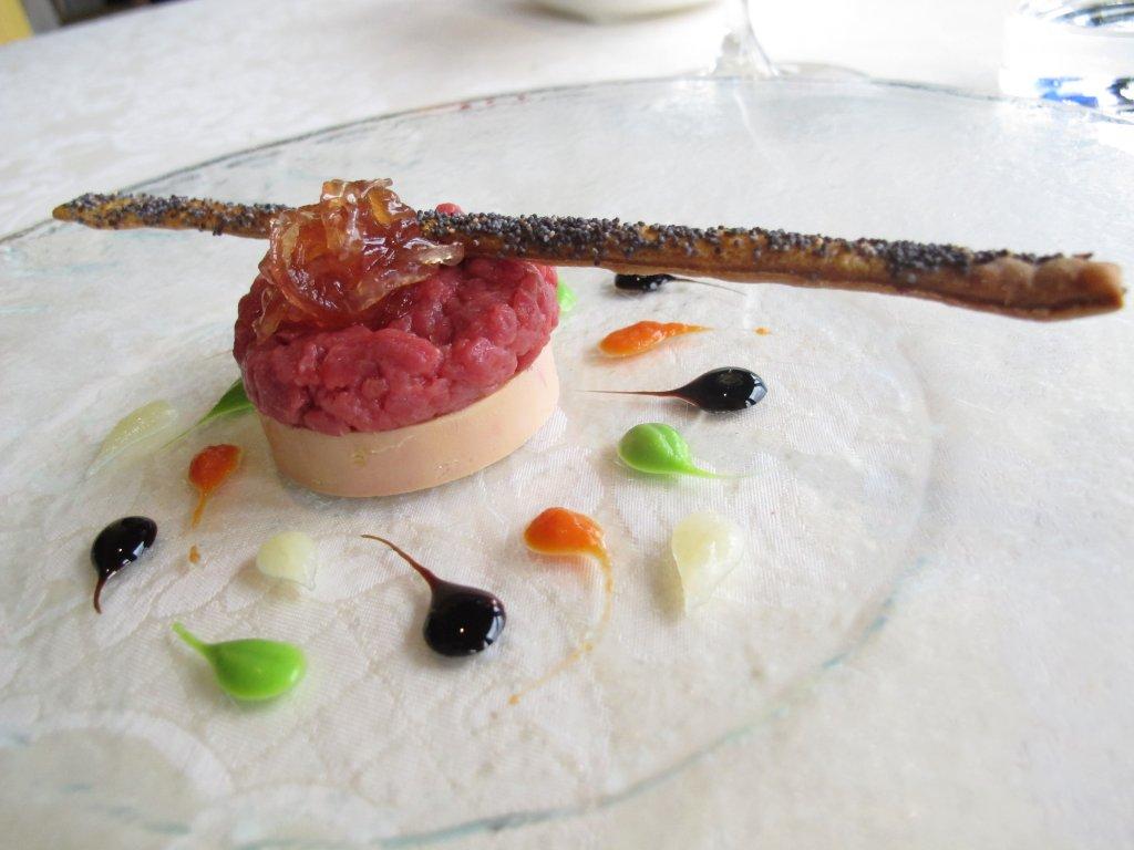 Terrina di foie gras e Fassona, Chef Beppe Maffioli, Carlo Magno, Collebeato, Brescia