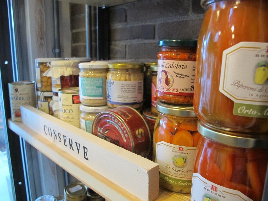 la selezione di conserve, Cucinaa, Foligno, Perugia