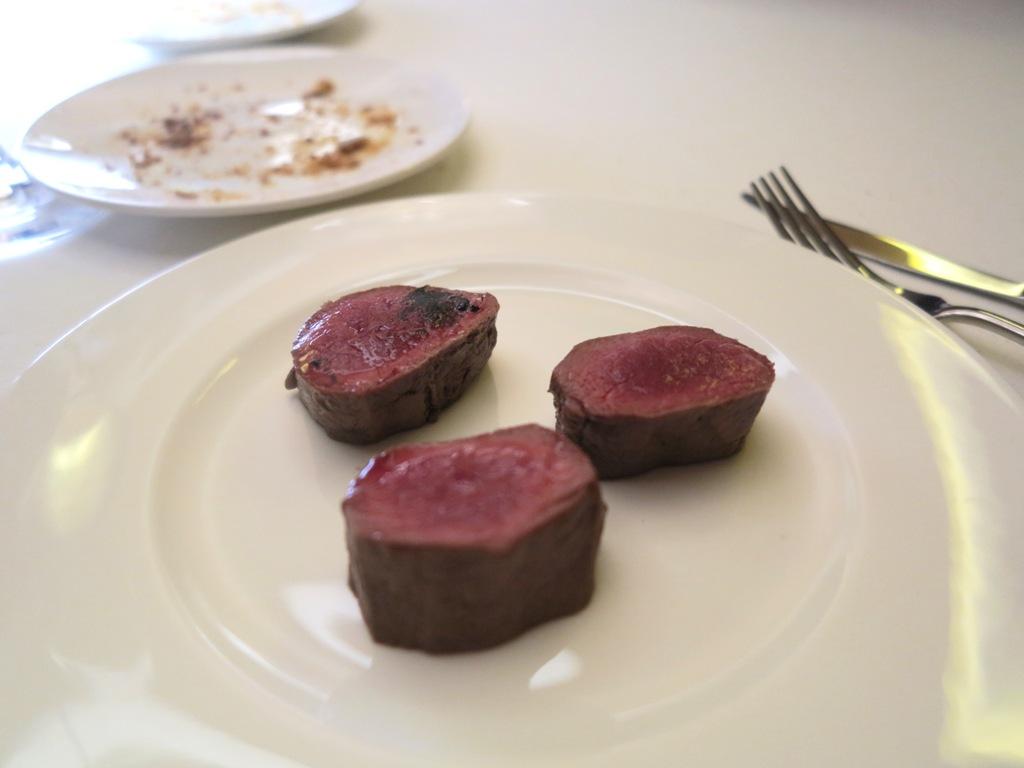 bocconi di capriolo, Kitchen, Chef Paolo Lopriore, Como