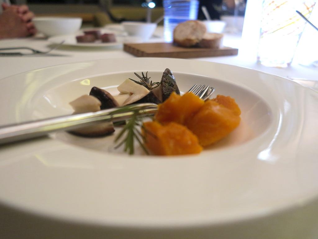 porcini e zucca, Kitchen, Chef Paolo Lopriore, Como
