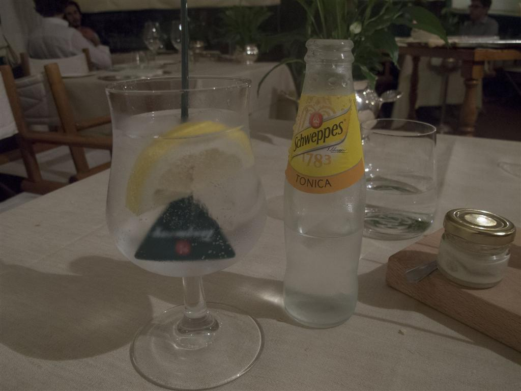 gin tonic, The Lord Nelson, Chef Ivan Maniago, Greta Merciari, Chiavari, Genova