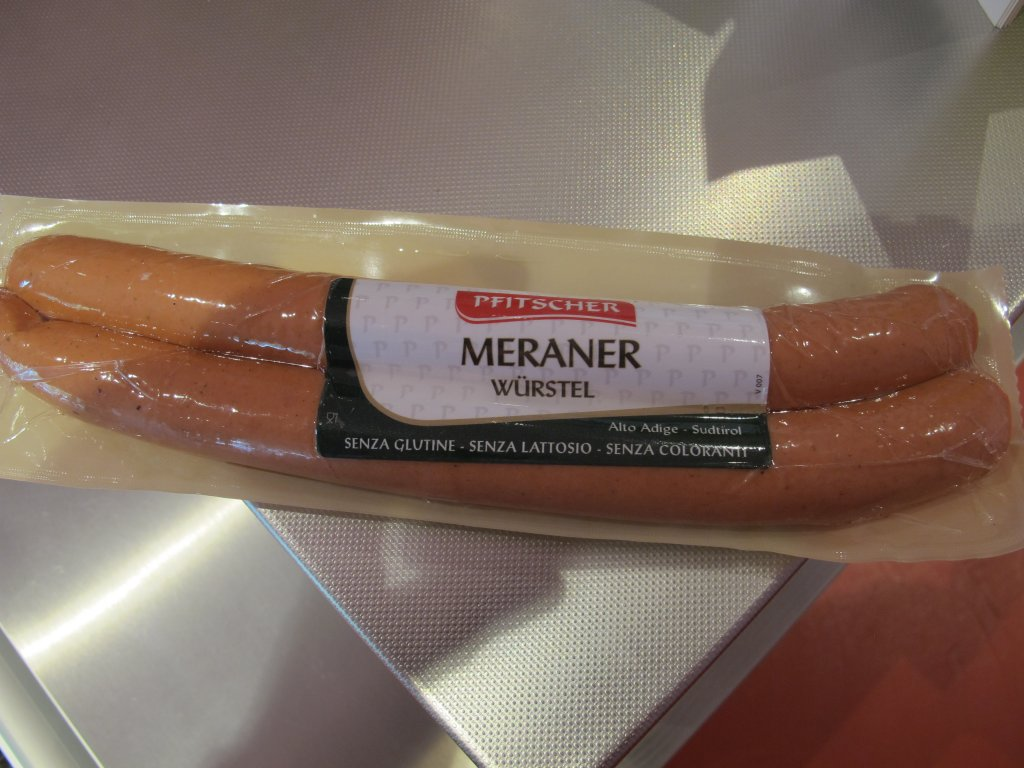 Meraner wurstel, Salumificio Pfitscher, Portal, Bolzano