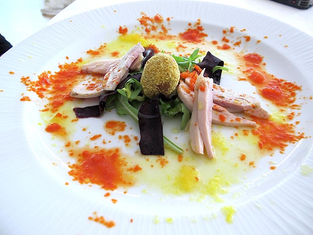 insalata di pollo con ristretto, La Trota, Chef Sandro e Maurizio Serva, Rivodutri, Rieti