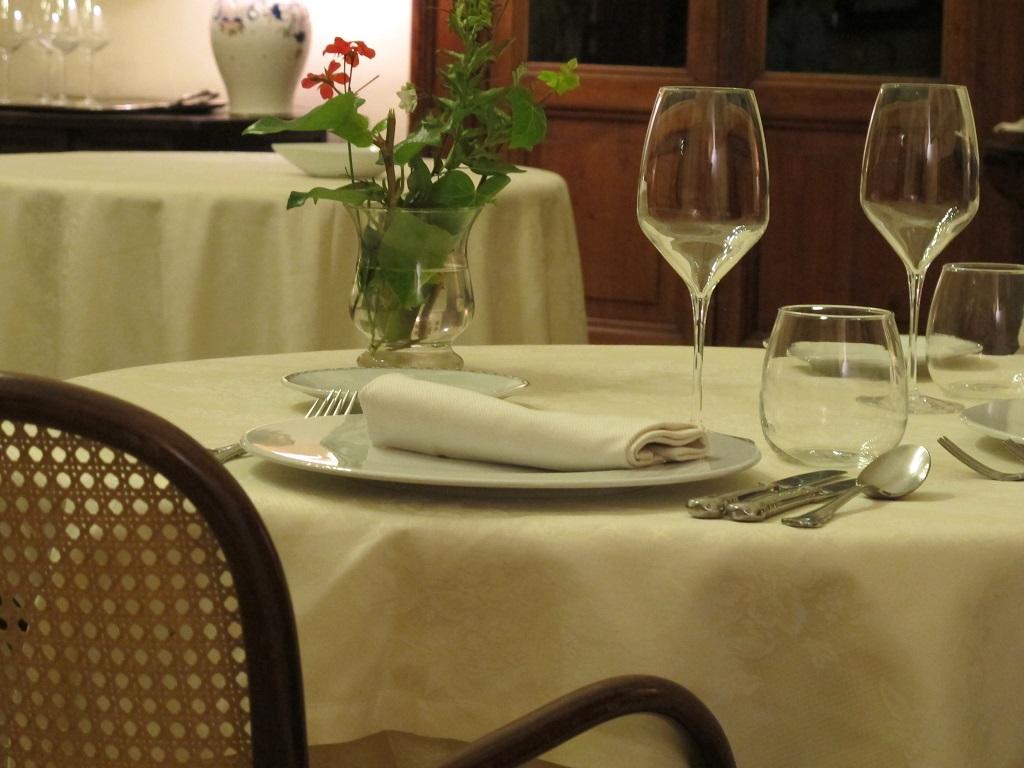 mise en place, Villa Roncalli, Chef Luisa Scolastra, Foligno, Perugia