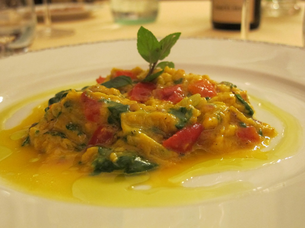 Frittatina, Villa Roncalli, Chef Luisa Scolastra, Foligno, Perugia