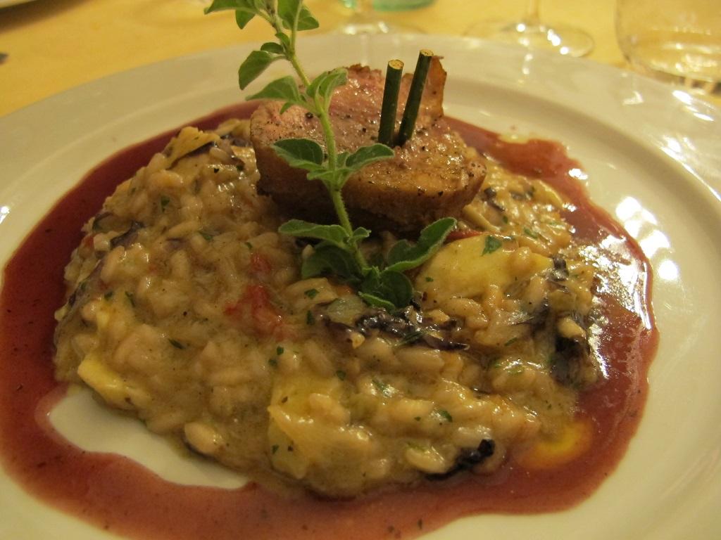 Risotto, Villa Roncalli, Chef Luisa Scolastra, Foligno, Perugia