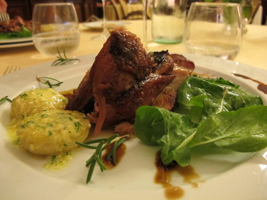Agnello al forno, Villa Roncalli, Chef Luisa Scolastra, Foligno, Perugia