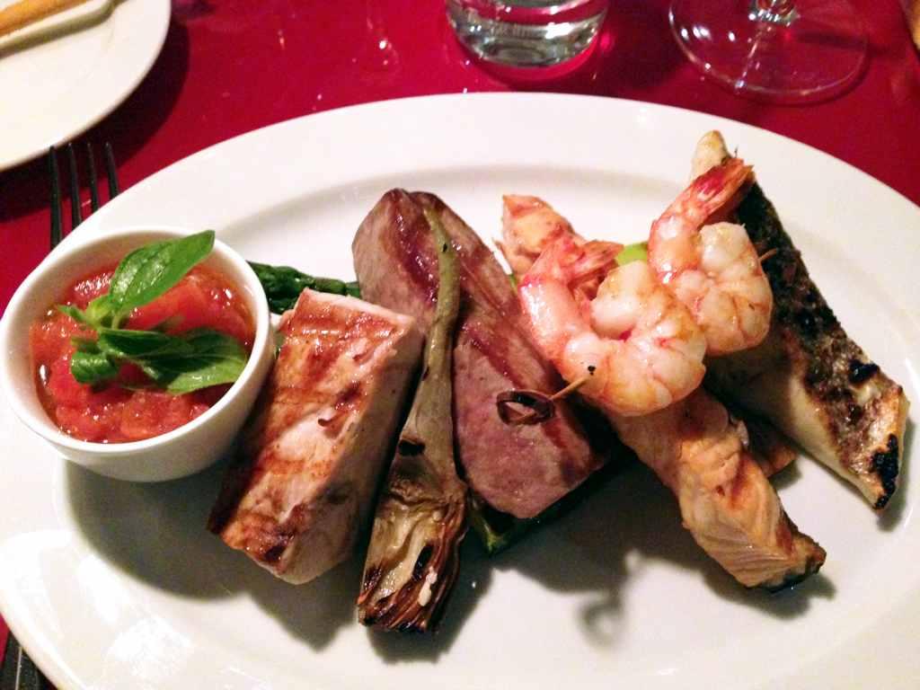 pesce sulla brace, Ceresio 7, Chef Elio Sironi, Milano