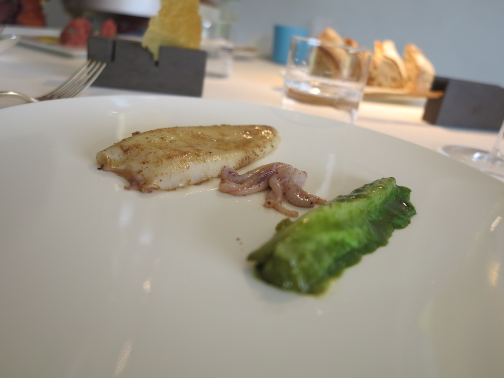 Calamaro, pepe e lattuga, Reale, Chef Niko Romito, Castel di Sangro, Aquila