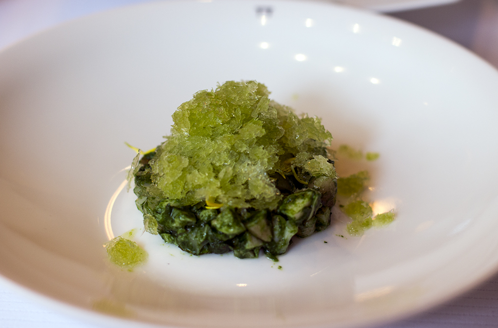 granita di peperoni verdi, Pierre Gagnaire, Paris
