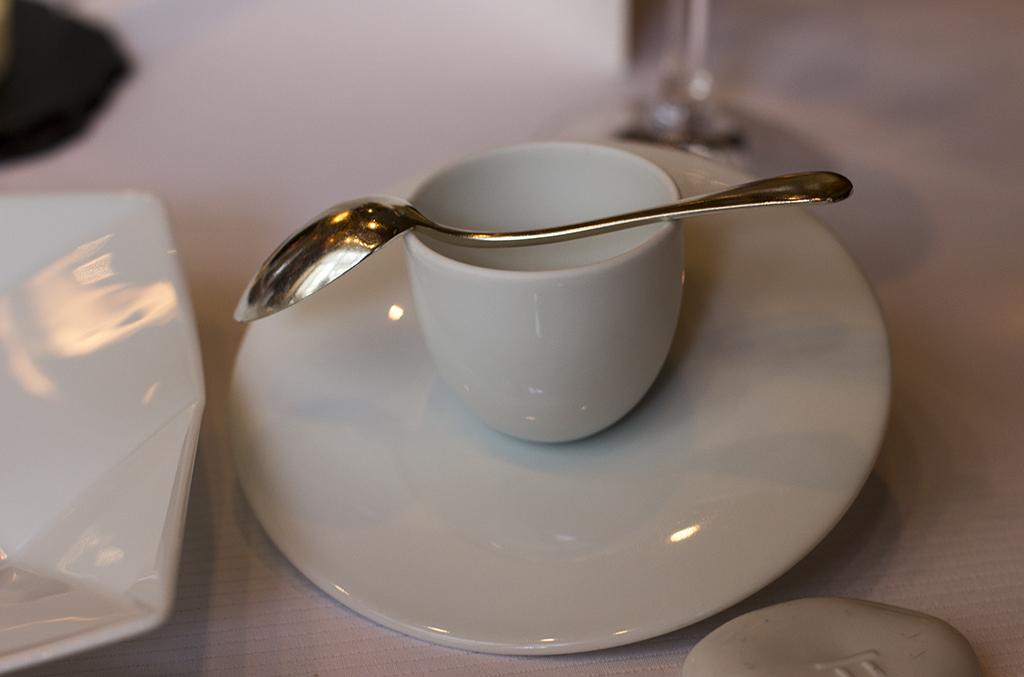 latte di Haddock, Pierre Gagnaire, Paris