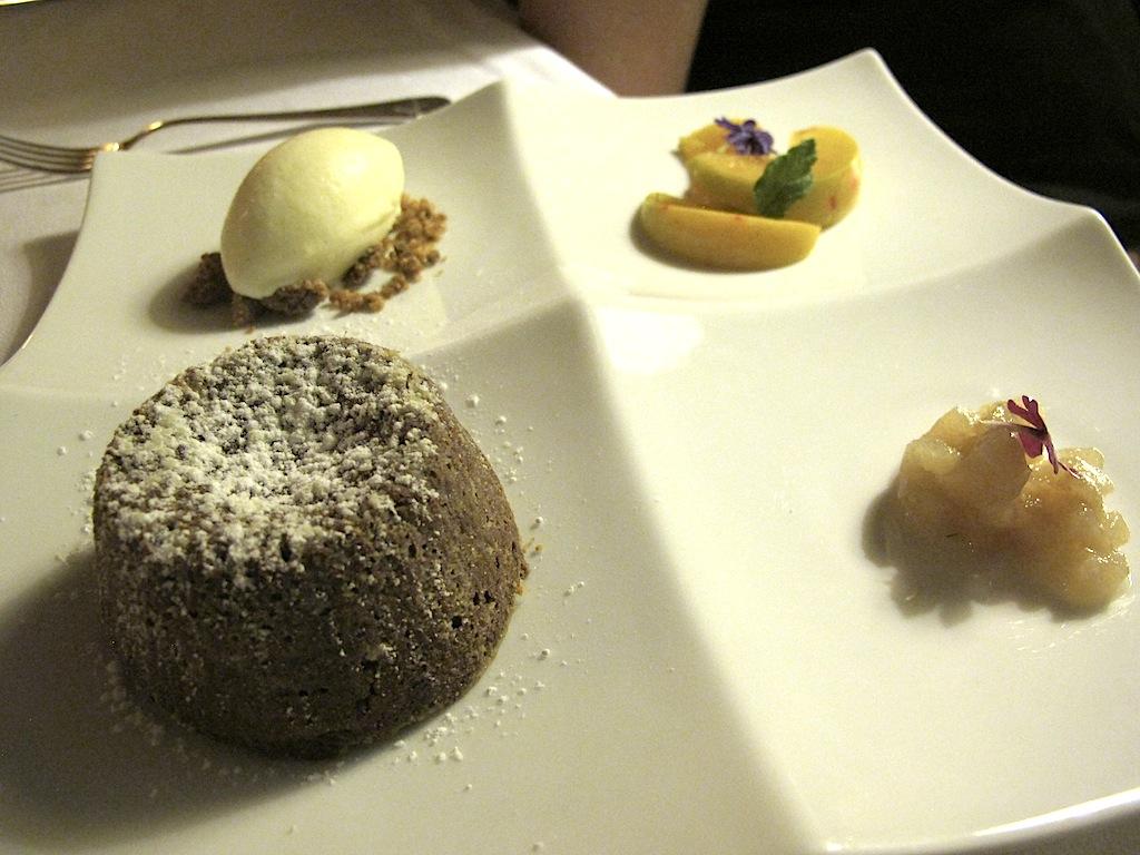 tortino di cioccolato, S'Apposentu, Chef Roberto Petza, Siddi