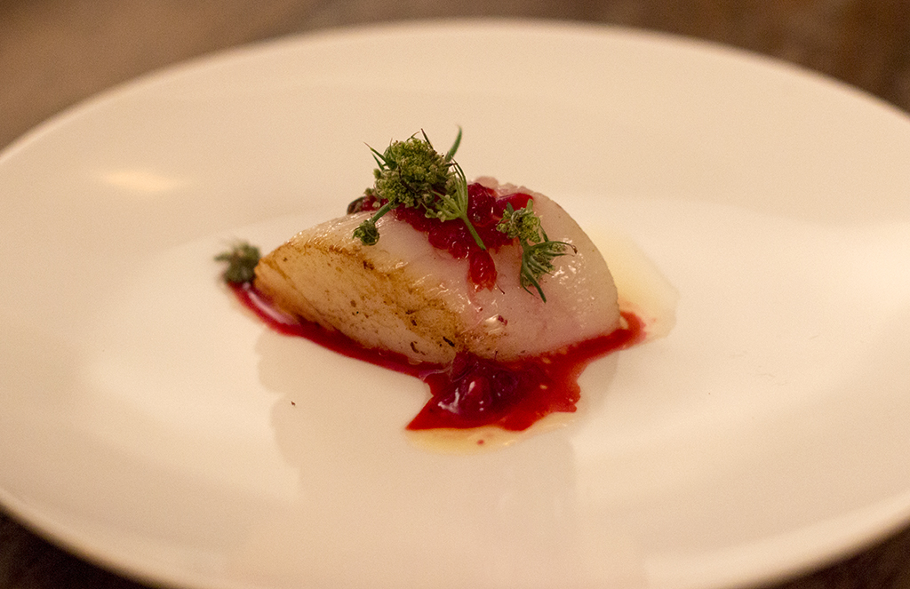 Capasanta, lamponi e burro alla nocciola, Roseval, Chef Simone Tondo, Paris