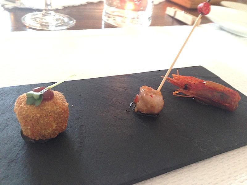 stuzzichini di benvenuto, chef Angelo Sabatelli, Monopoli, Bari