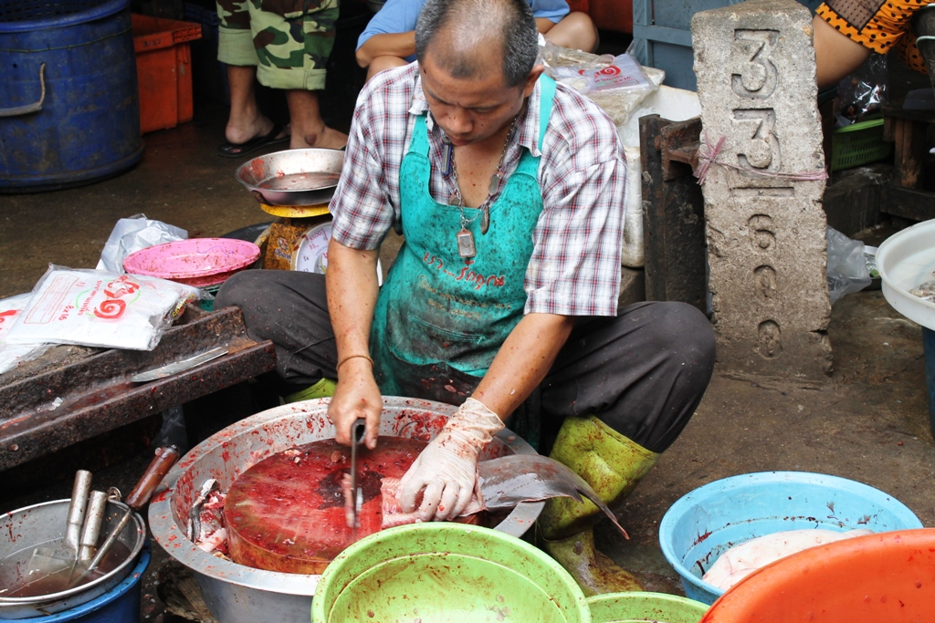 taglio della razza, Thai Street Food, Thailandia, Bangkok
