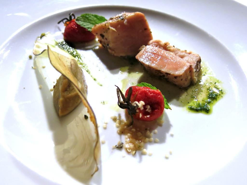 tagliata di alalunga, Locanda di Don Serafino, Chef Vincenzo Candiano, Ragusa Ibla