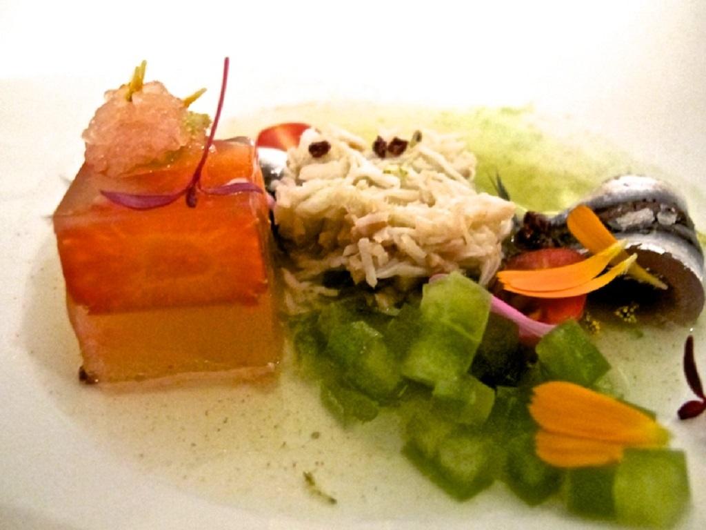 Granseola, alici, Oro, Chef Davide Bisetto, Venezia