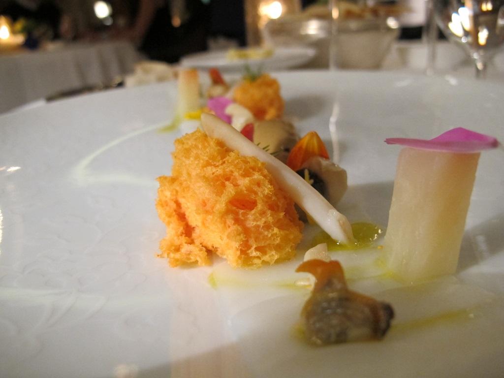 Carpaccio di seppia, Oro, Chef Davide Bisetto, Venezia