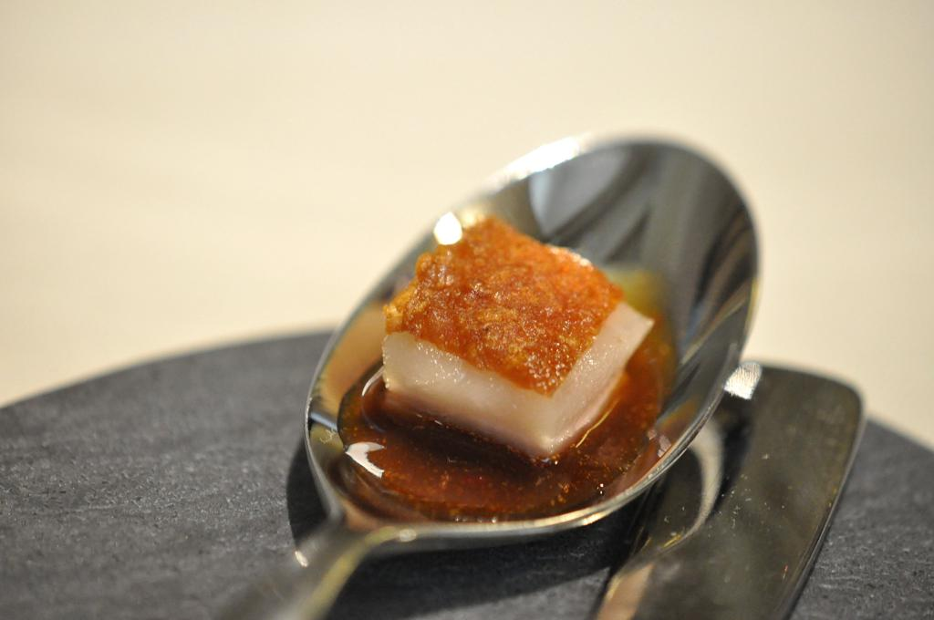 pancia di maiale con salsa agrodolce, Casa Perbellini, Chef Giancarlo Perbellini, Verona